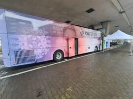 Un bus pour des prélèvements dans les communes et entreprises de Belgique