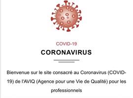 Un nouveau site de l'Aviq dédié au coronavirus