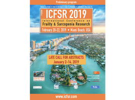 International Conference on Frailty & Sarcopenia Research (ICFSR 2019)