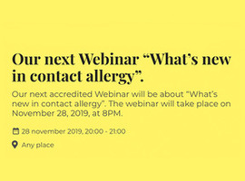 Webinar What's new in contact allergy