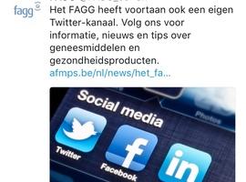 Het FAGG nu ook op Twitter en Facebook