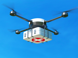 Ziekenhuizen testen transport stalen uit met drones