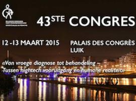 43e jaarlijks congres van de Belgische Vereniging voor Kindergeneeskunde (Luik, 12-13 maart 2015)