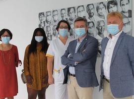 Eerbetoon aan alle medewerkers en artsen van het Imeldaziekenhuis met fotocollage