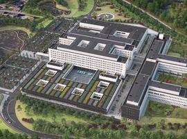 Le chantier du futur centre hospitalier les Viviers à Gilly avance