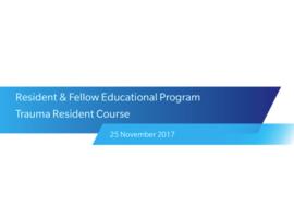 Trauma Resident Course