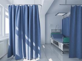 Gordijnen tussen bedden in ziekenhuizen wemelen van resistente bacteriën