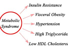 Evolutie van het cardiovasculaire risico volgens de evolutie van een metabool syndroom