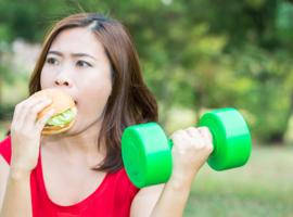 Vergelijking van het genot opgewekt door een voedingsmiddel en het genot opgewekt door lichaamsbeweging