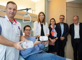Patiënten in AZ Damiaan relaxeren met unieke dronebeelden