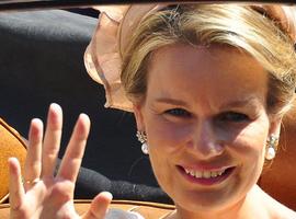 Visite de la reine Mathilde au projet Poliopolis de l'hôpital universitaire d'Anvers