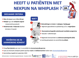 Heeft u patiënten met nekpijn na whiplash ?