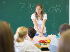 Cursus reanimeren voor leerlingen in het secundair in Franstalig België