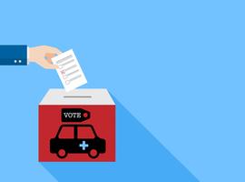 Une pub électorale sur un véhicule médical subventionné par la Région