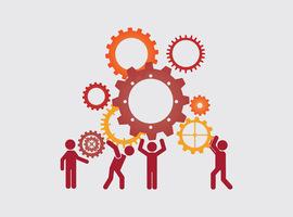 Met welke beroepstakken werkte de industrie het vaakst samen  in 2019?