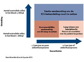 ERRATUM - Richtlijnen van de ERS: stopzetting van ICS bij COPD naargelang van het aantal eosinofiele cellen in het bloed