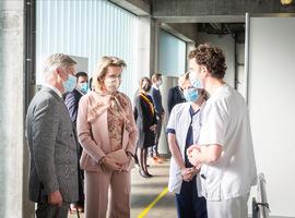Koning en koningin bezoeken Jan Yperman ziekenhuis in Ieper