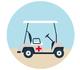 Des voiturettes de golf pour emmener les baigneurs donner leur sang